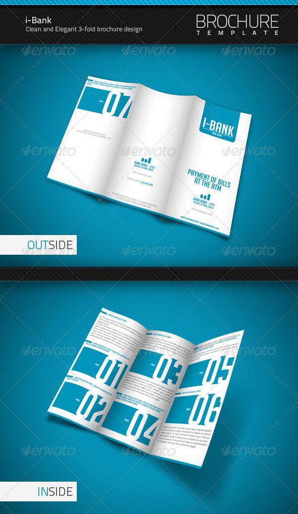i bank 3 fold brochure template