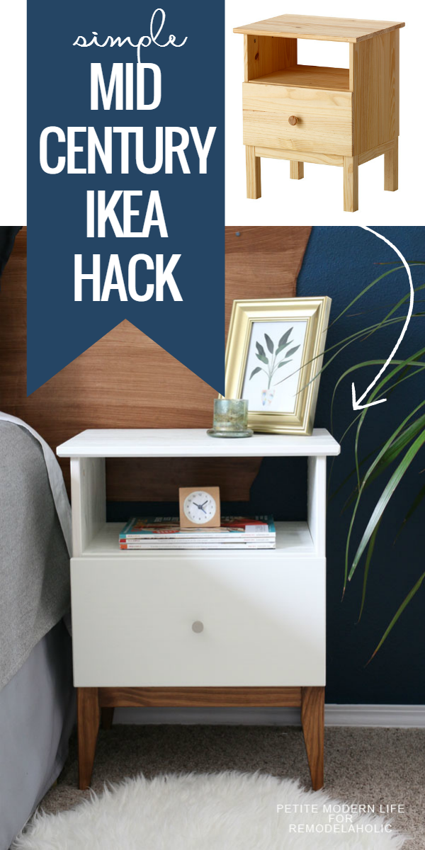 Make ikea look like classic mid century with this easy for Ikea tarva hack de lit