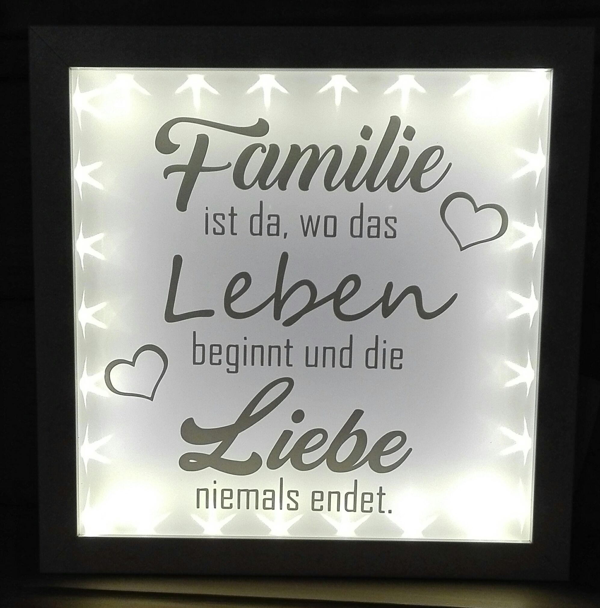 Ribba Leuchtrahmen Plotter Spruch Familie Vinyl