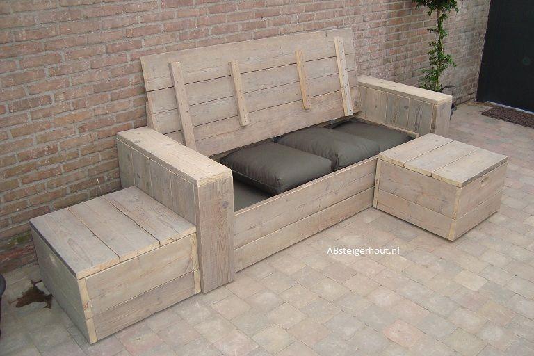 steigerhout loungebank - Google zoeken
