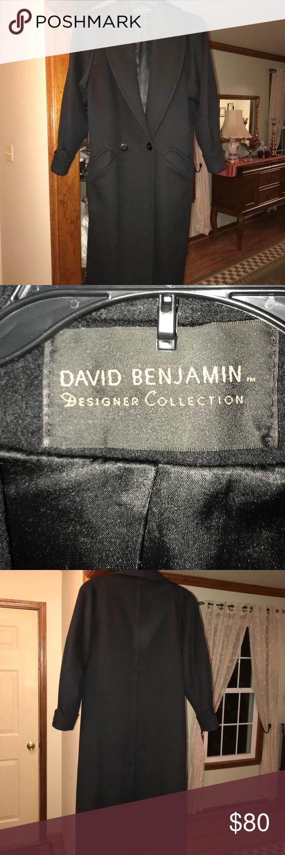 f367442f4576 David Benjamin Long Black Dress Coat