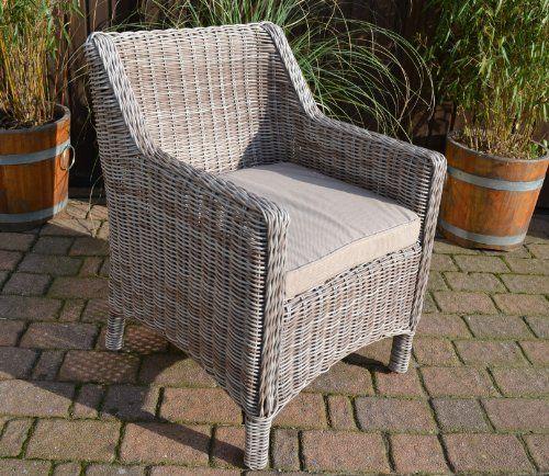Gartenmöbel Set Tisch, Bank und 4 Sessel Rattan Polyrattan - rattan gartenmobel gunstig