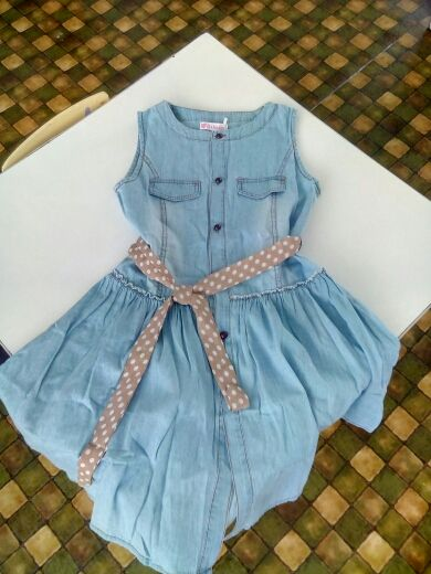 1b55e53f896 Online Shop Teenage Girls Dresses Summer Style Sleeveless Denim Dress for Girls  Clothing Teens Sundress kids clothes 2 4 6 8 10 12 14 15 Y