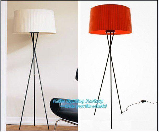 Tripod Lamp Floor Lamp White Shade Dimmer Switch Tripod Lamp