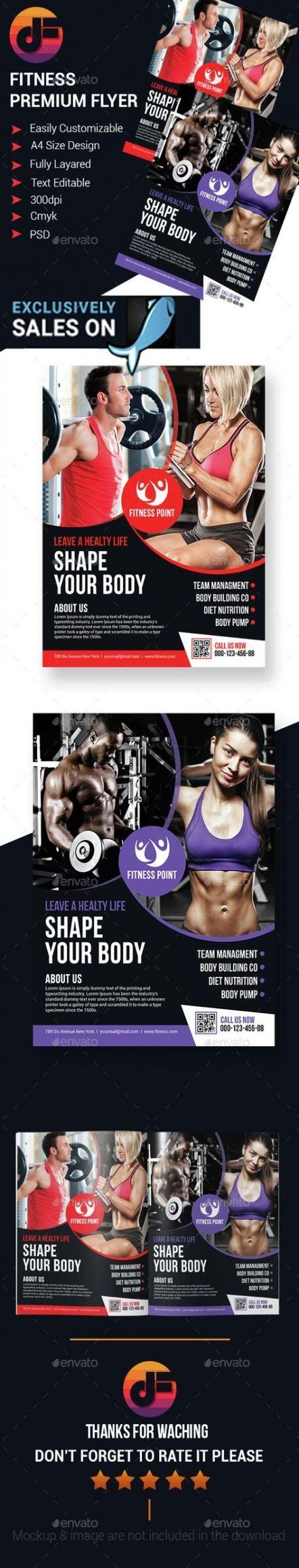 Best Fitness Poster Design Ideas Flyer Template Ideas #fitness #design