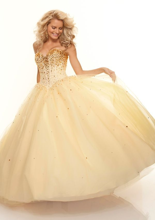 Sweetheart Ball Gown Prom Dress Yellow