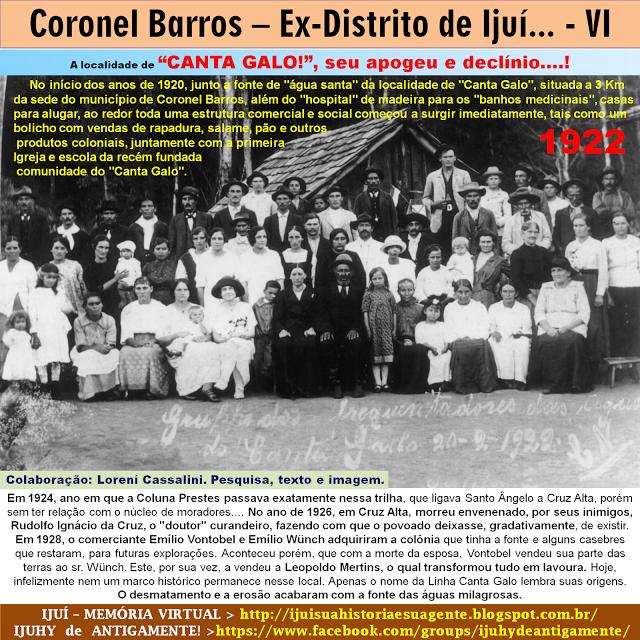 IJUÍ - RS - Memória Virtual: Em Coronel Barros, ex-Distrito de Ijuí, a localida...