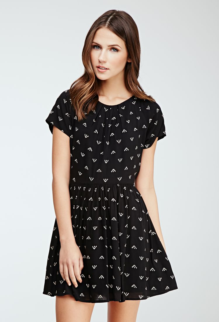 Abstract Dot Print Dress | FOREVER21 2000117965 | Dresses
