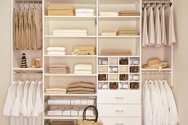 Etonnant Interior, Nice Looking White Wooden Custom Closet Design Ideas With Great  Storage System As Well As Clothing Racks And Hangers With Simplist.