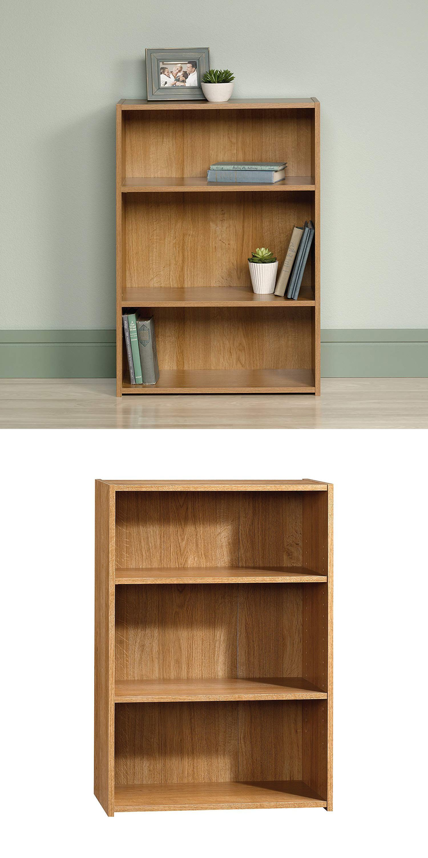 Sauder Beginnings 3 Shelf Bookcase Highland Oak Brown