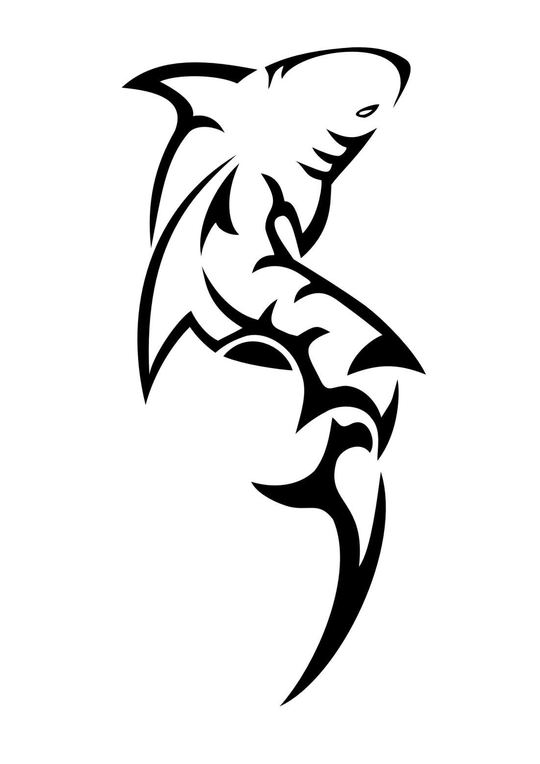 Squalo Tribale Idee Per Tatuaggi Tatuaggi Maori Tatuaggi Con