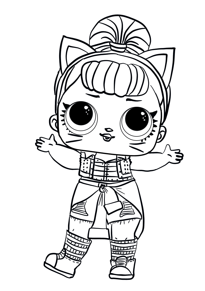 Lol Coloring Pages Free Printable in 2020 | Cute coloring ...