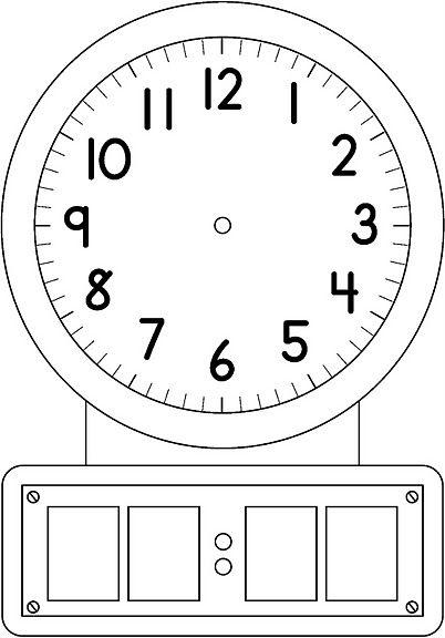 El Reloj Dibujos Para Colorear Material Didactico Para Matematicas Hojas De Calculo Tecnicas De Aprendizaje