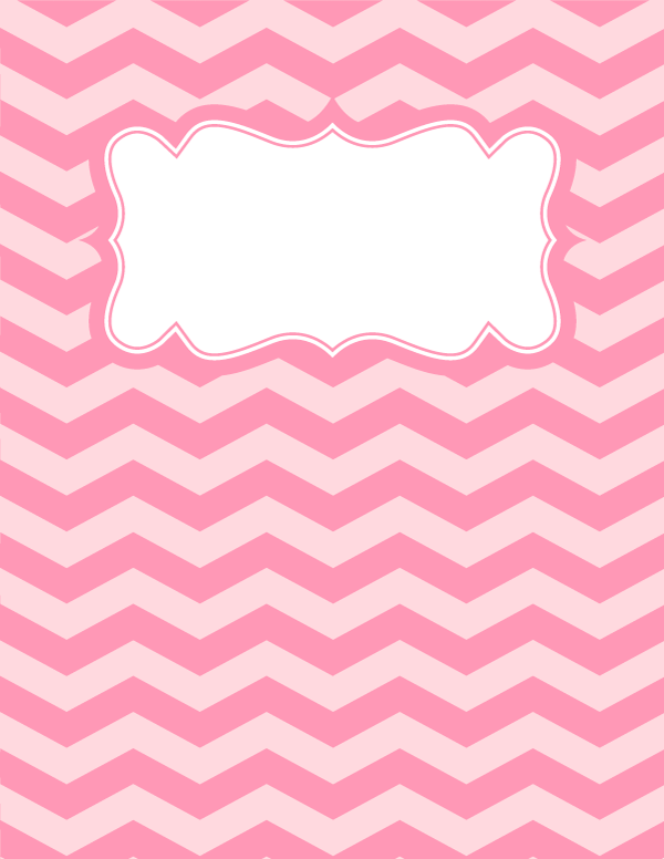 free binder cover templates - free printable pink chevron binder cover template