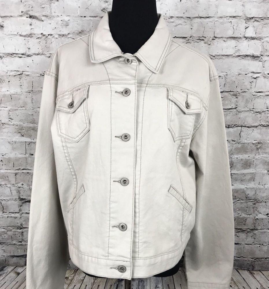 Levi S Beige Stone Cotton Spandex Trucker Denim Jean Jacket Women S Xl Ebay Jean Jacket Women Jackets For Women Denim Jean Jacket [ 1000 x 931 Pixel ]