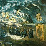 Pablo Picasso (1881–1973)   L'enterrement de Casagemas  Oil on canvas, 1901   150 x 90,74 cm  Musée d'Art moderne de la ville de Paris, France