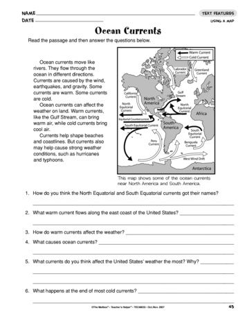Ocean Currents Lesson Plans The Mailbox Earth Science