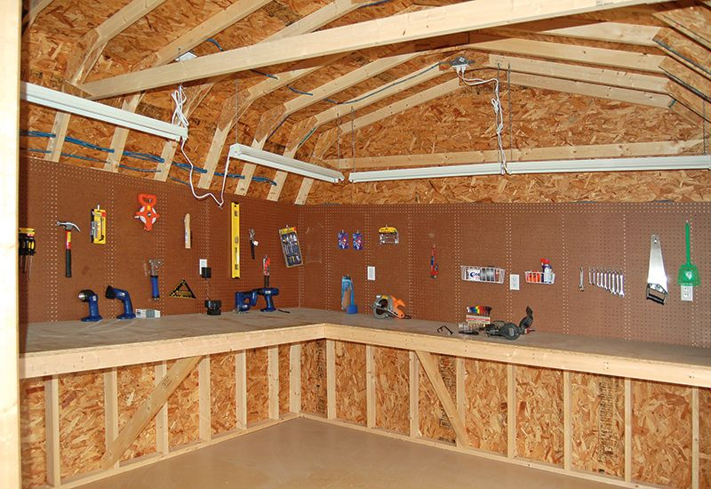 Great workshop in the shed man cave ideas pinterest Workshop plans 12x16