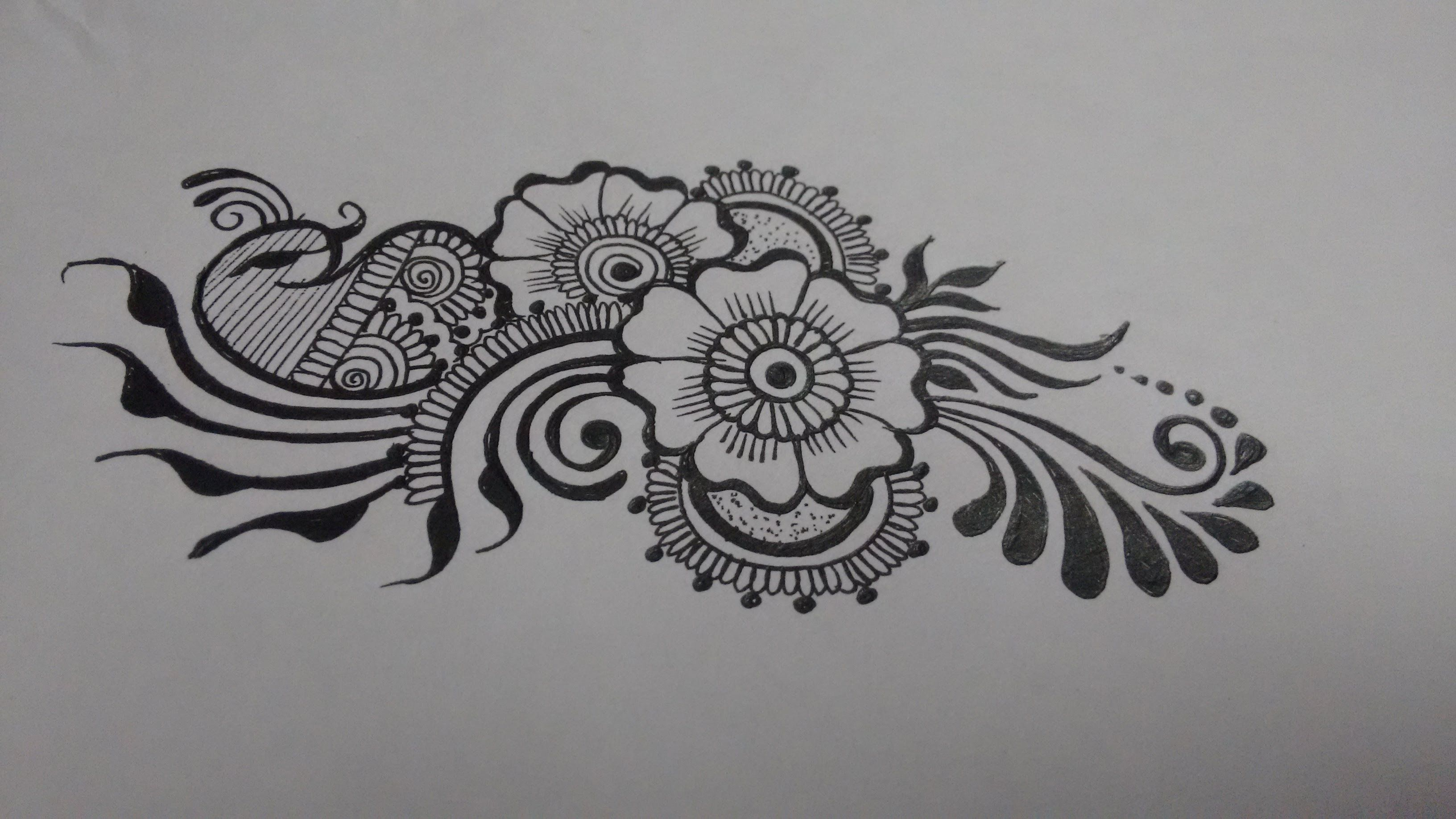 Image result for mehndi designs on paper