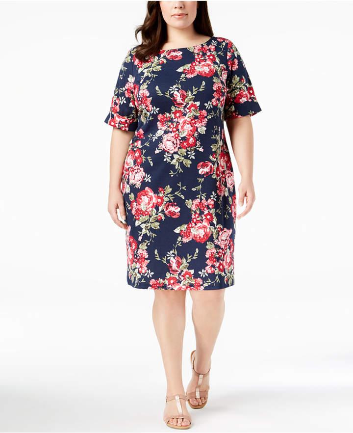 2c87c63878b7f Karen Scott Plus Size Floral-Print Sheath Dress