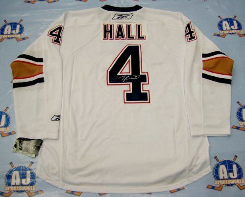 630b65174 TAYLOR HALL Edmonton Oilers SIGNED RBK Premier White Rookie Jersey .   493.05. This is an