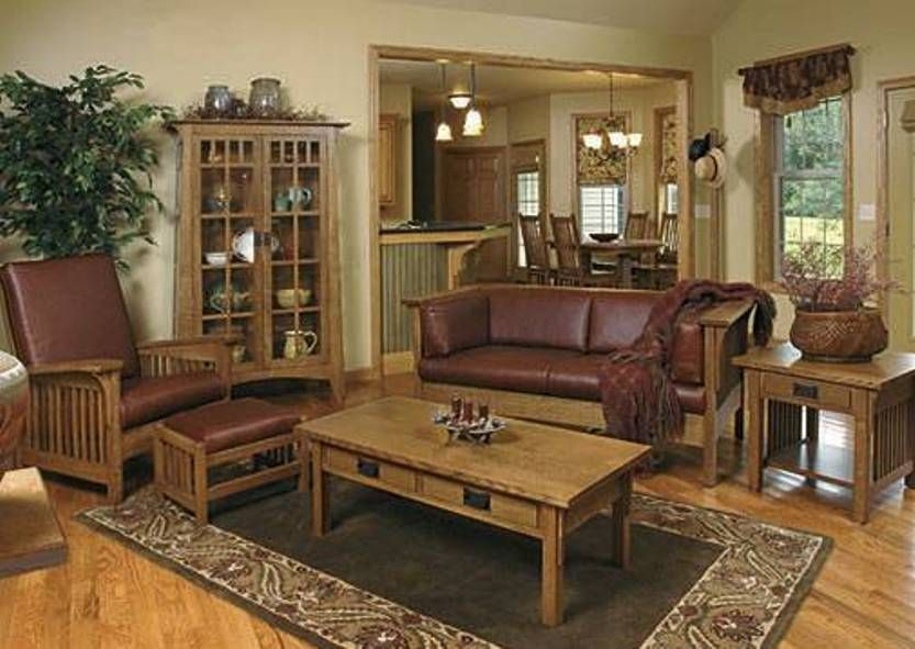 Mission Style Furniture Living Room Couch And Side Chair With Ottoman And Mission Style Living Room Mission Style Living Room Furniture Mission Style Furniture