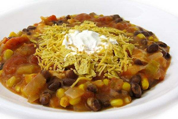 """If you love nachos, you're bound to love this easy, hearty dish. When I served it to my husband for dinner he said, """"This is GREAT!"""" And you know…I agree! Each fiber packed serving has 278 ca…"""