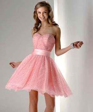 9b2a831bba Vestido curto rosa bebê. Vestido curto rosa bebê Vestidos De Debutantes