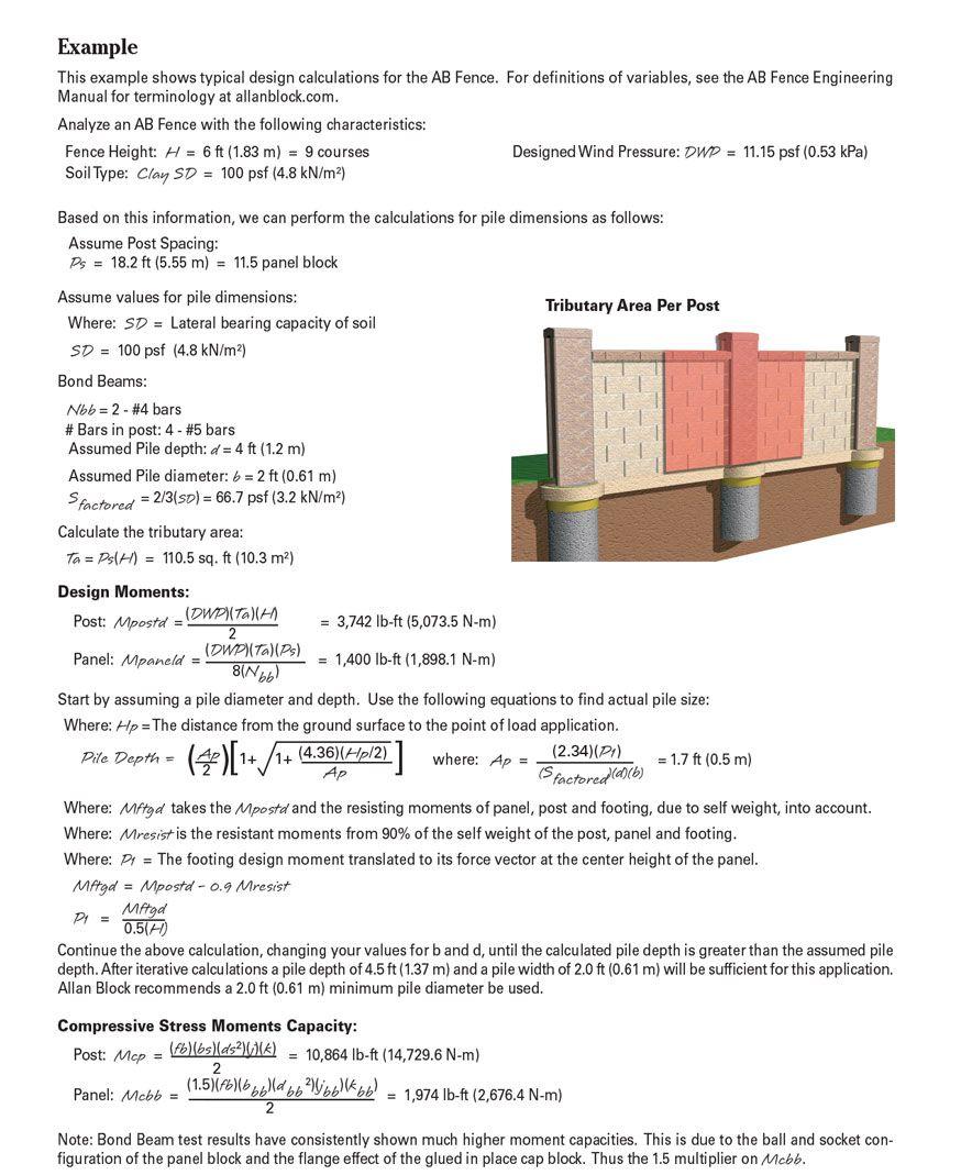 Concrete Block Fence Calculator Di 2020 Teknologi