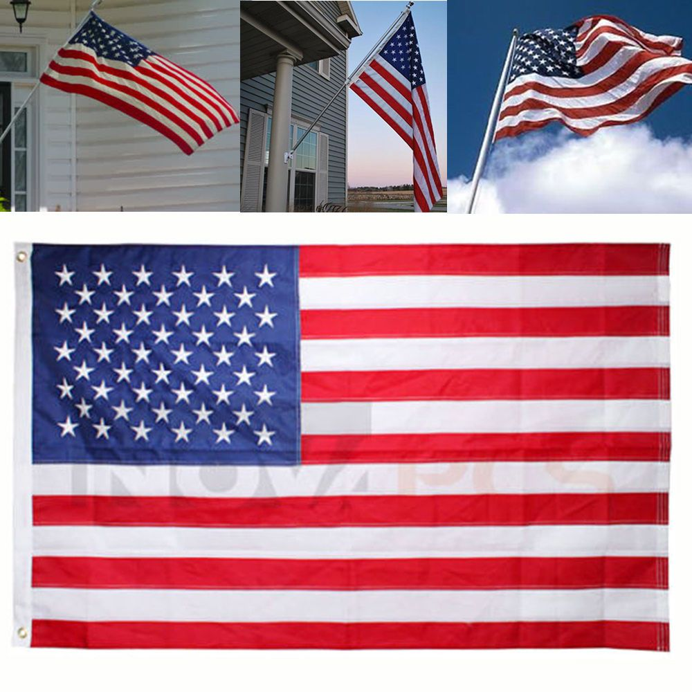 3x5 Ft American Flag Stripes Nylon USA U.S US Printed STARS