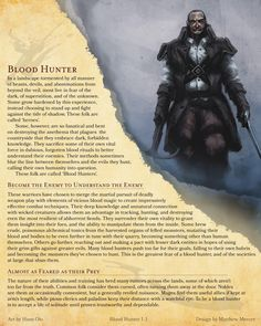 DnD 5e Homebrew — Critical Role's Blood Hunter Class