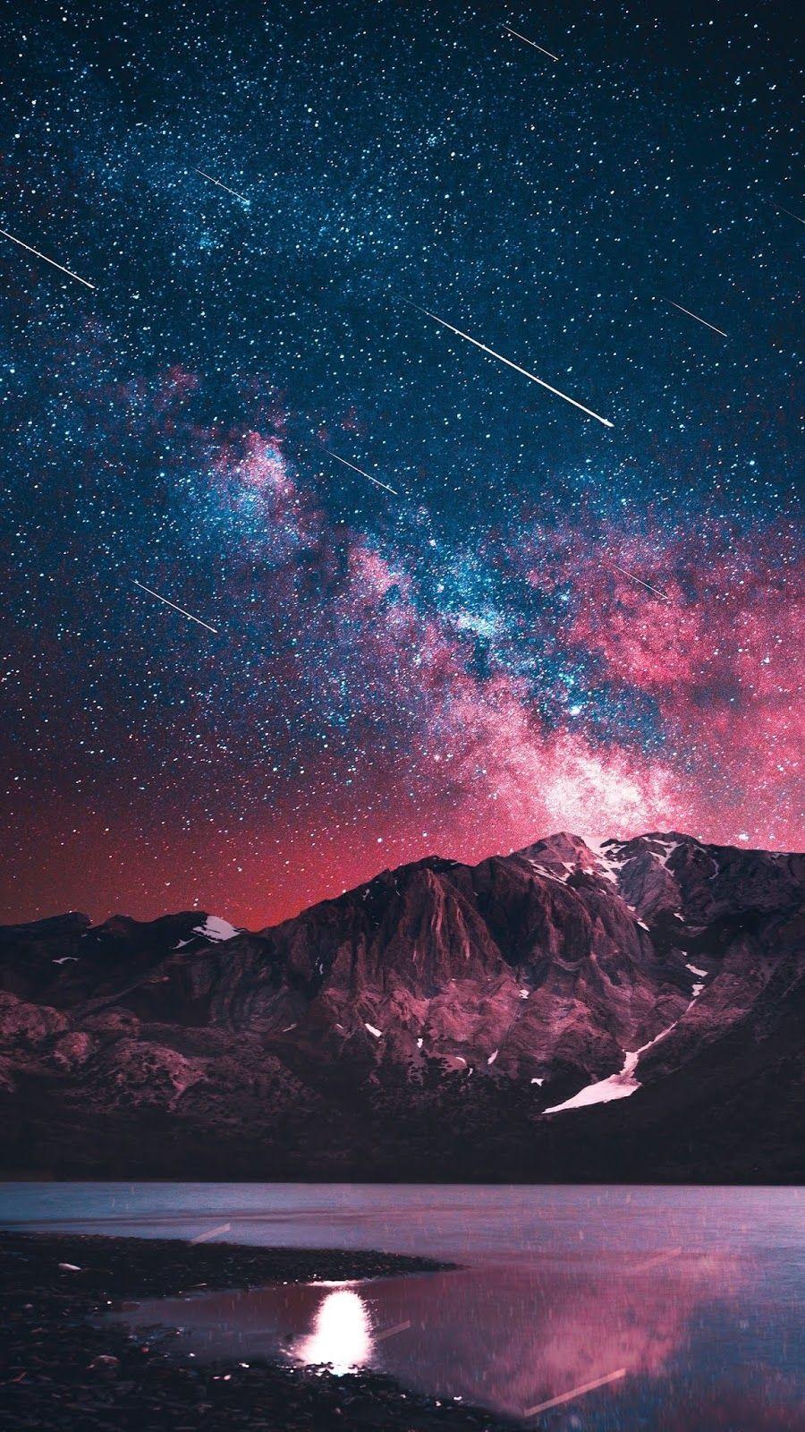 Starry night (Görüntüler ile) Resimler, Galaxy wallpaper