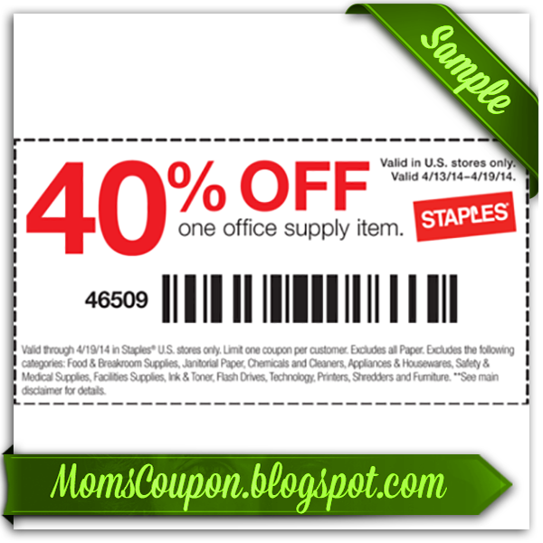 graphic relating to Staples Printable Coupon known as cost-free printable Staples discount codes 20% February 2015 Regional