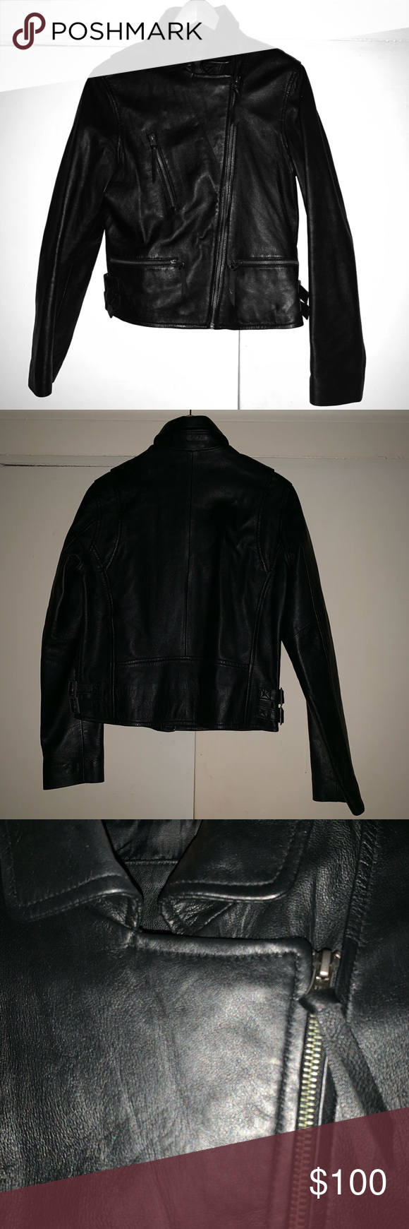 Leather MC Jacket Beautiful MC JACKET real leather zip