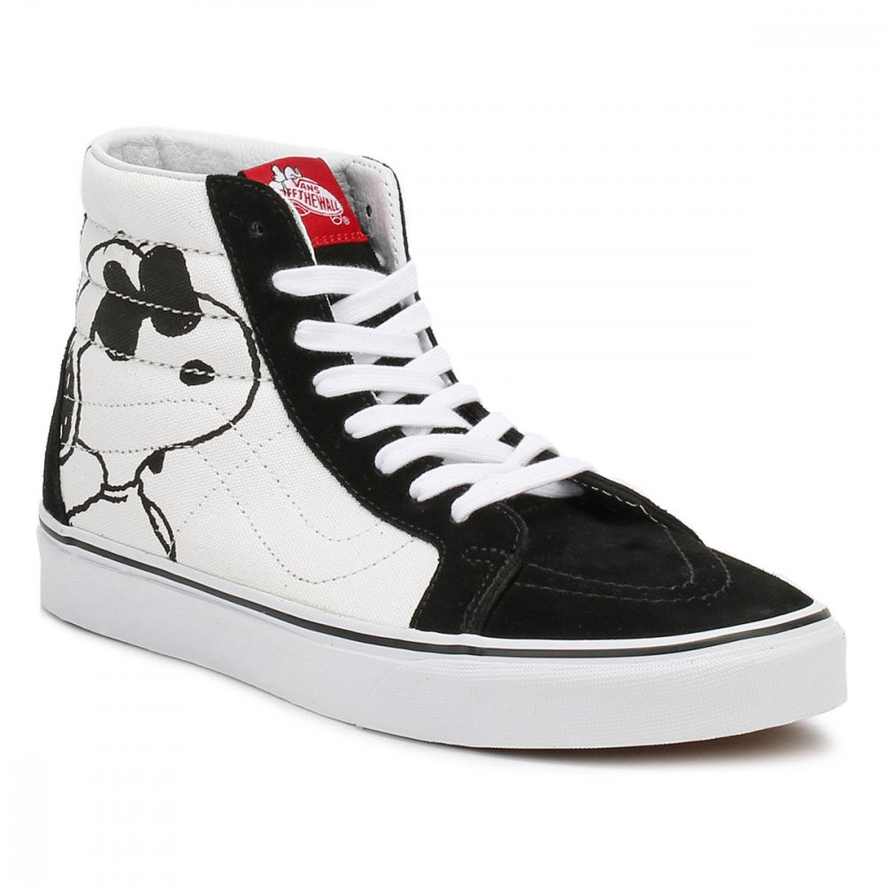 Men Vans Sk8-hi Peanuts Joe Cool Trainers White Black