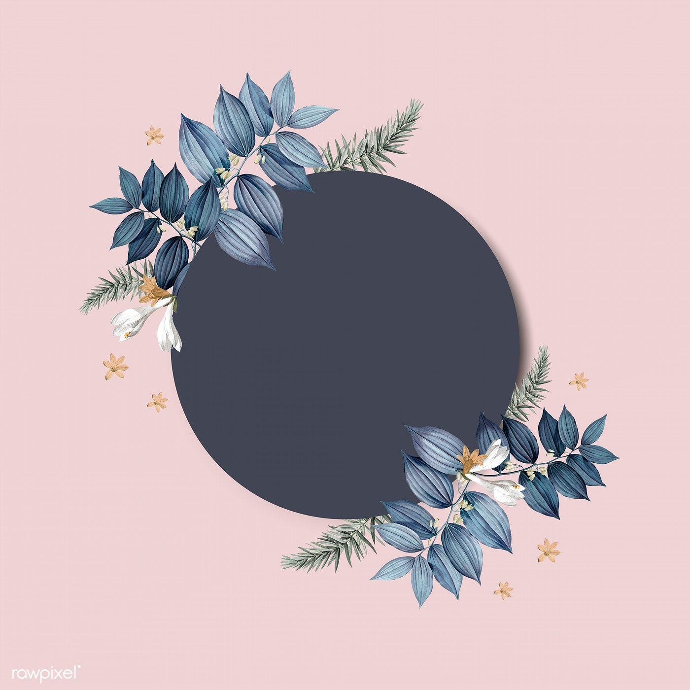 Download Premium Vector Of Empty Floral Invitation Card Design