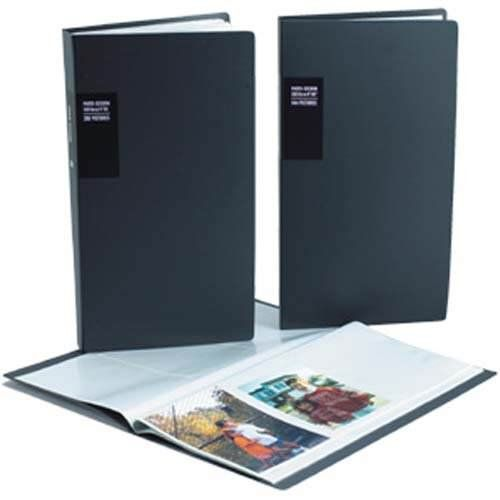 Black Professional Photo Session Album With Black Pages Fits 300