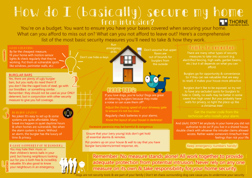 Infographic Top 4 Tips For Basic Home Security Sistemista