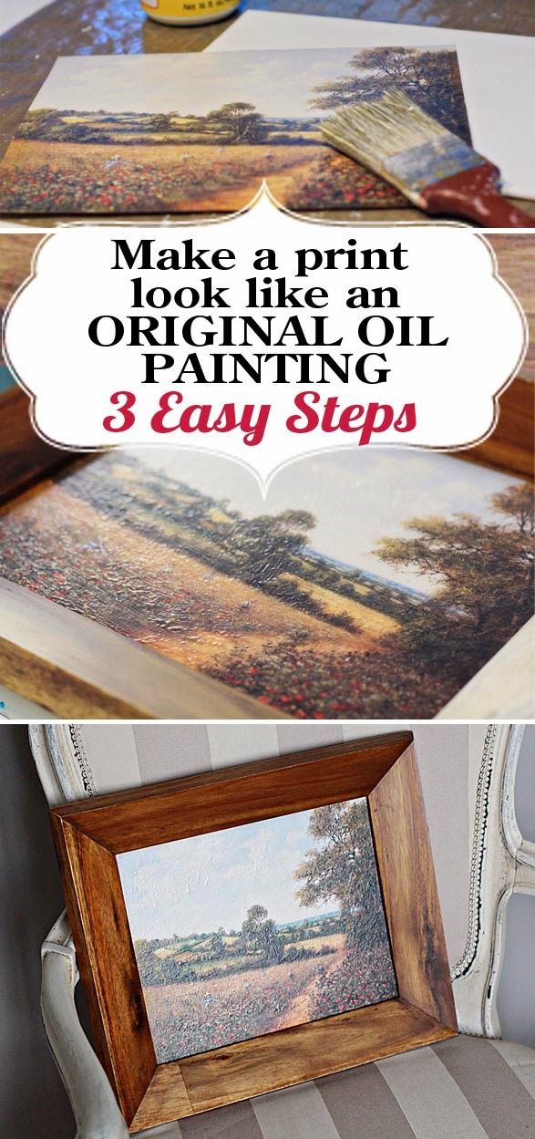 Paper Daisy Designs Thrifty Art Fake An Oil Painting Inexpensive Art Crafts Art Diy