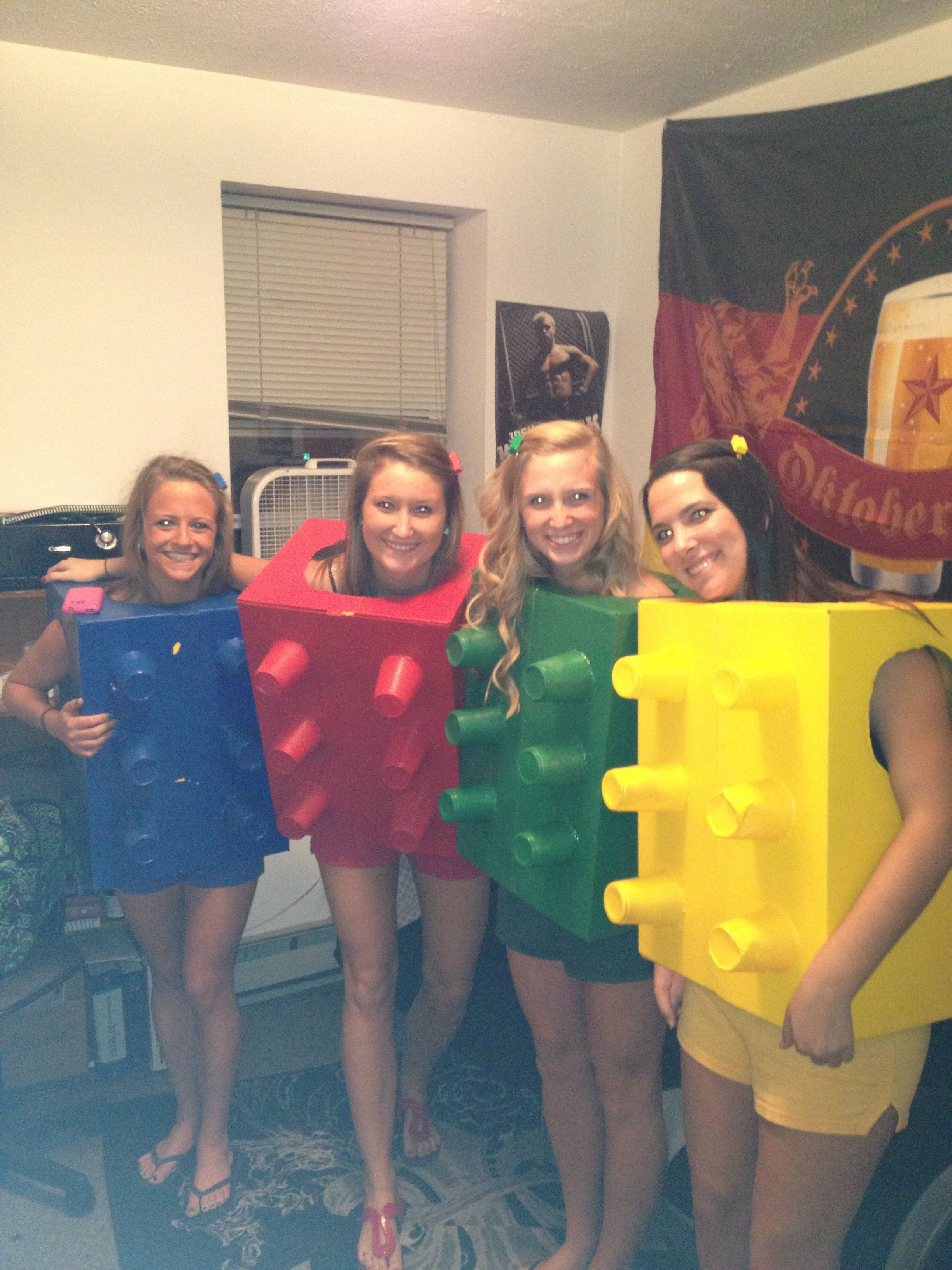 Friend Group Halloween Costumes Kids.Lego Halloween Costumes Card Board Box And Solo Cups Easy