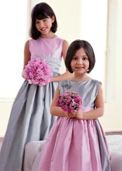 Modern wedding style pink and gray flower girl dresses girls modern wedding style pink and gray ribbon weddingwedding flower girlswedding mightylinksfo Gallery