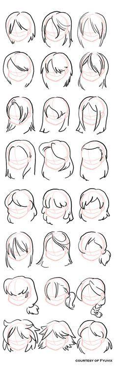Chibi Hair Drawing Tips Drawings Sketches