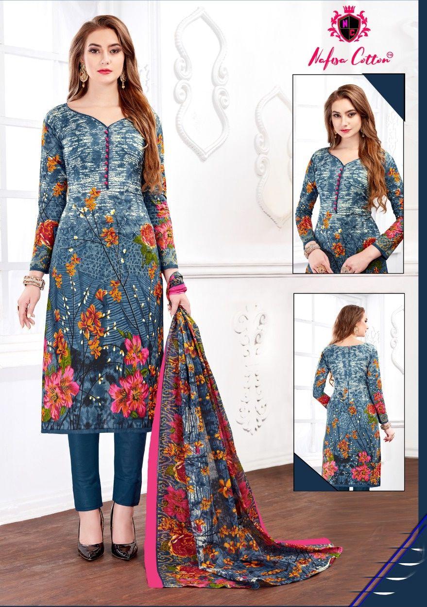 1e78090ca9 Nafisa Cotton Reshma Karachi Queen Vol 2 Bundle of 10 Printed Karachi  Cotton Dress Material Collection