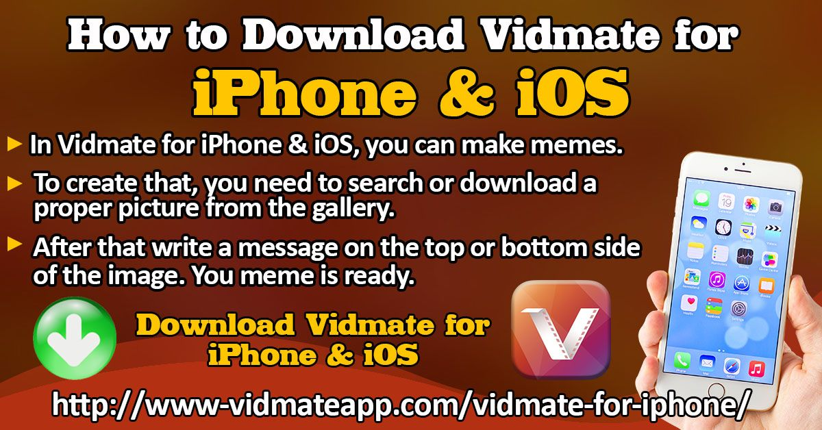 Vidmate for iPhone & iOS is the app you need if you are