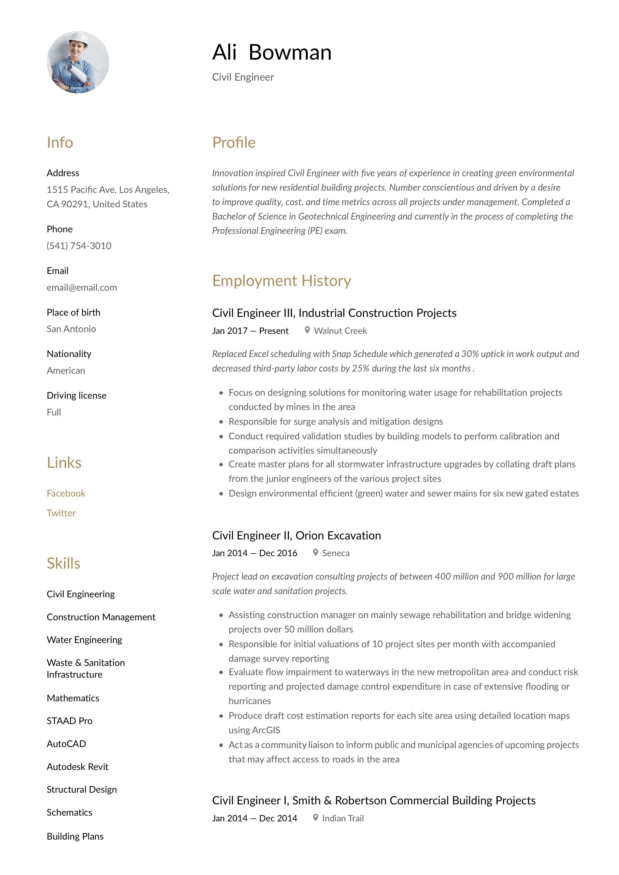 Civil engineer resume writing guide in 2020 civil