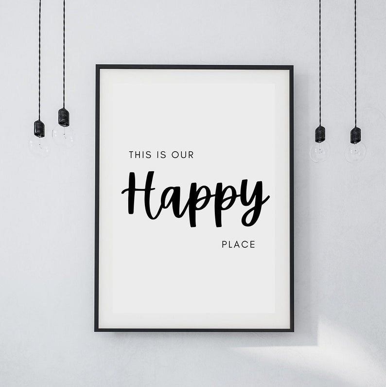 This Is Our Happy Place Print New Home Gift  FREE UK P&P   Etsy