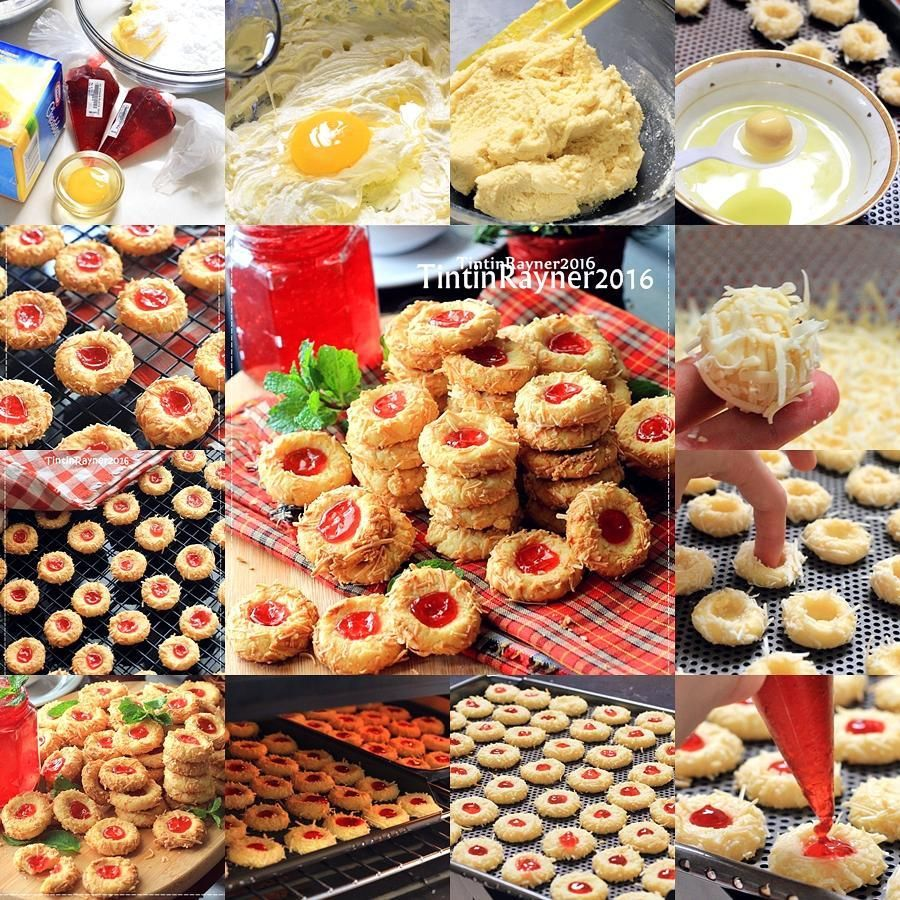 Crunchy Strawberry Cheese Thumbprint Cookies Highly Recomended Renyah Harum Recipe By Tintinrayner Resep Ini Adalah Resep Resep Makanan Kue Kering Resep