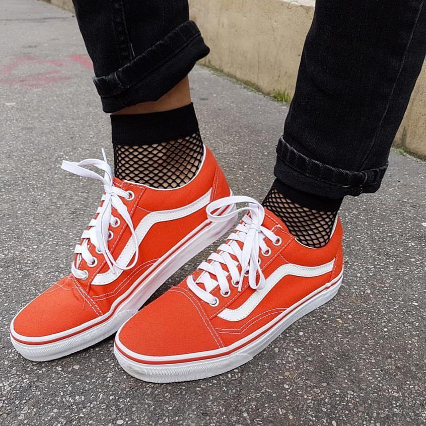 vans orange homme