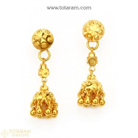 33f04d250 22K Gold Drop Earrings for Women - 235-GER7935 - Buy this Latest Indian  Gold Jewelry Design in 3.700 Grams for a low price of $240.50