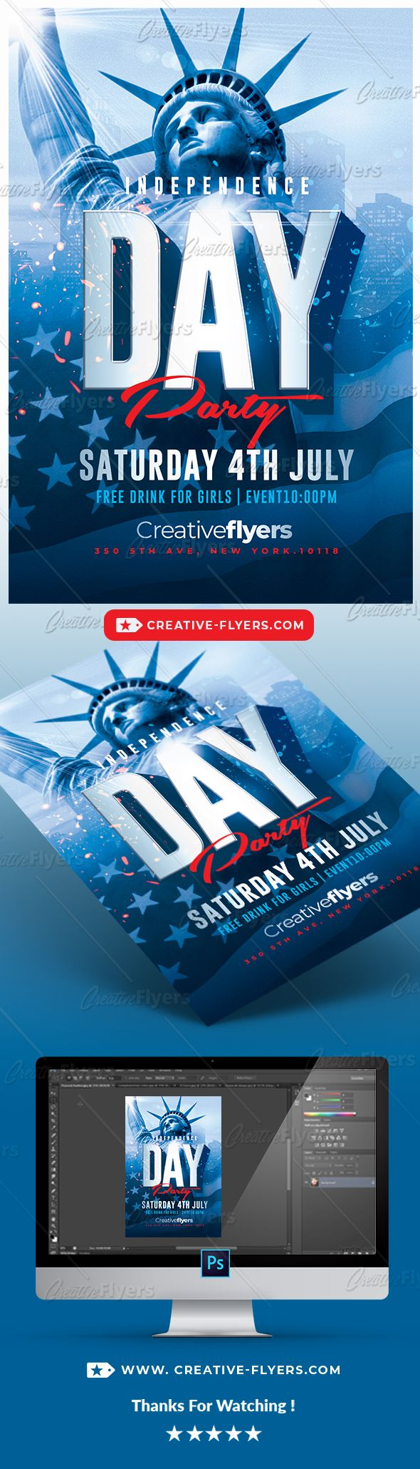 flyer psd creative independence day flyer psd perfect to promote event independence day flyer psd creative party 4thofjuly july celebration